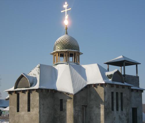 В селе Приозёрное строится храм